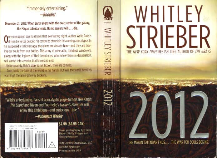 2012: The War for Souls - Whitley Strieber cover