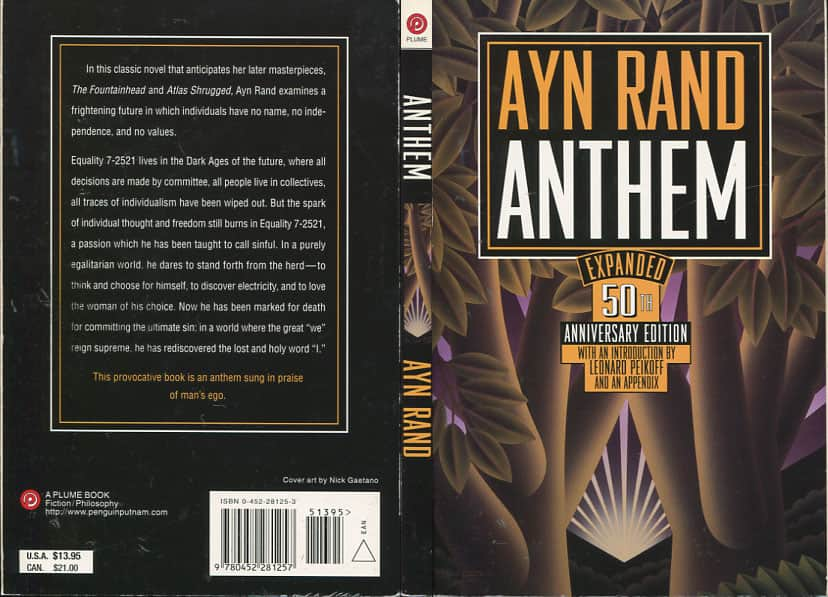 the story of equality in the book anthem by ayn rand