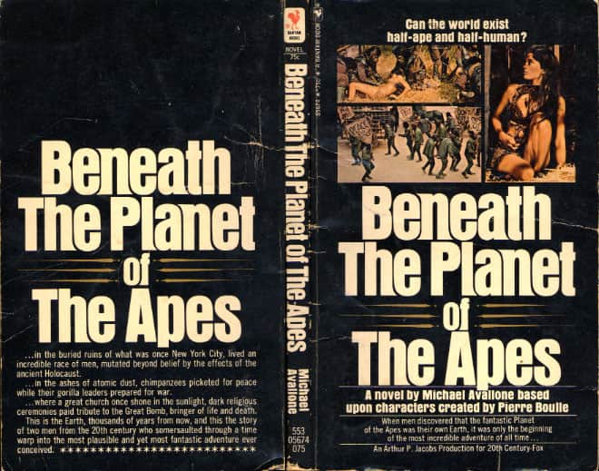 Beneath the Planet of the Apes - Michael Avallone cover