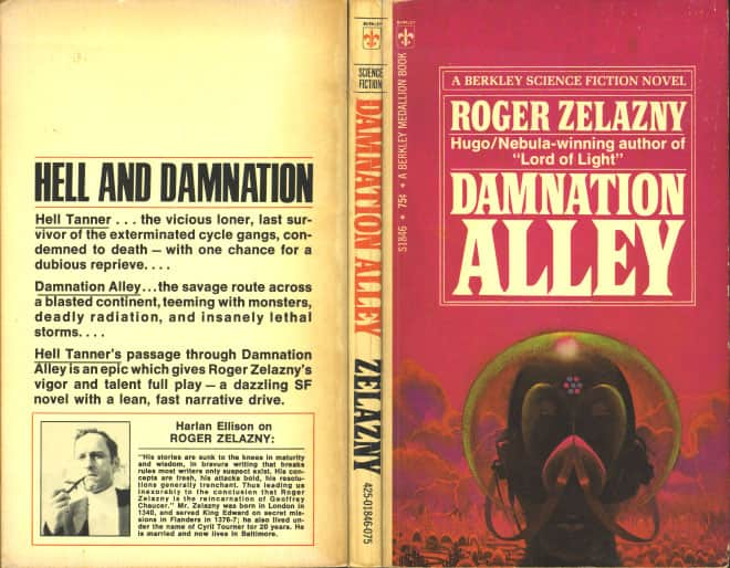 Damnation Alley - Roger Zelazny cover