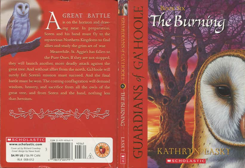 The Burning  - Kathryn Lasky cover