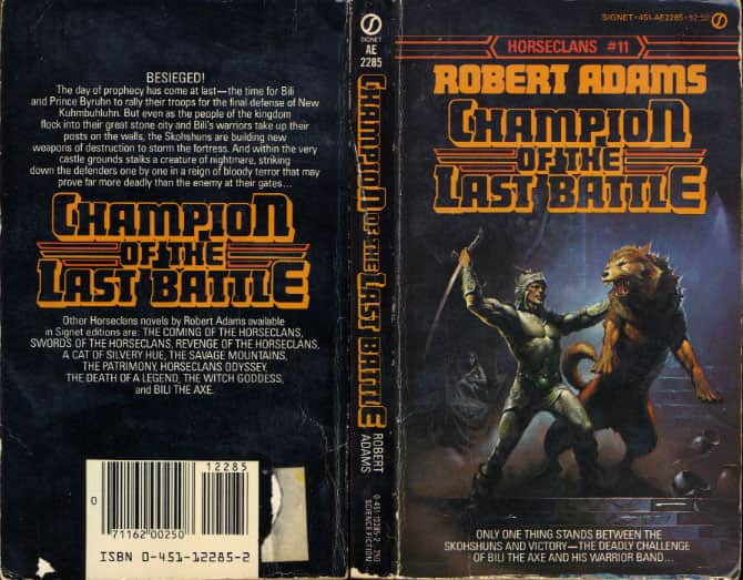 Champion of the Last Battle - Robert Adams cover