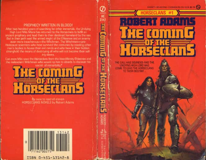 The Coming of the Horseclans  - Robert Adams cover
