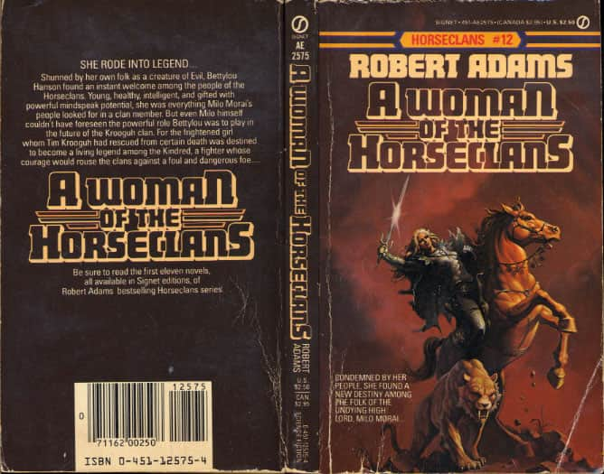 A Woman of the Horseclans  - Robert Adams cover