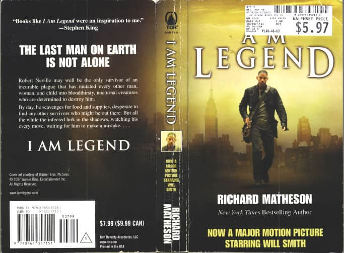 i am legend richard matheson I am meant to be writing a blog about how i am legend, by the late, immensely great, richard matheson, is the king of vampire novelsbut after finding my old copy on the shelf downstairs, i've become somewhat distracted, and would really rather just get on with reading it.