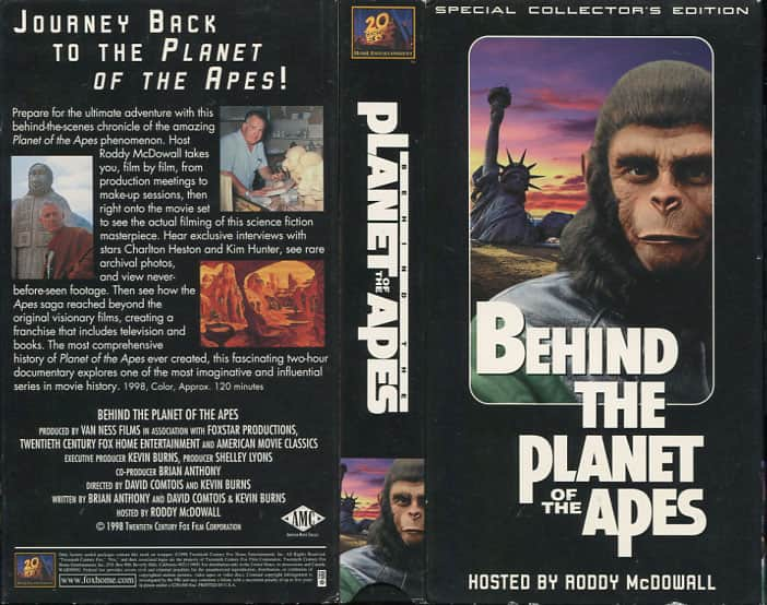 Behind Planet of Apes - Kevin Burns cover