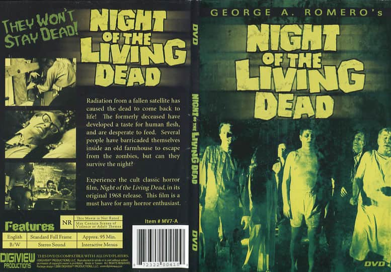 Night of the Living Dead - George Romero cover