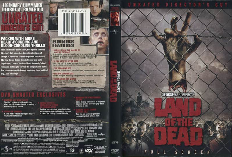 Land of the Dead - George A. Romero cover