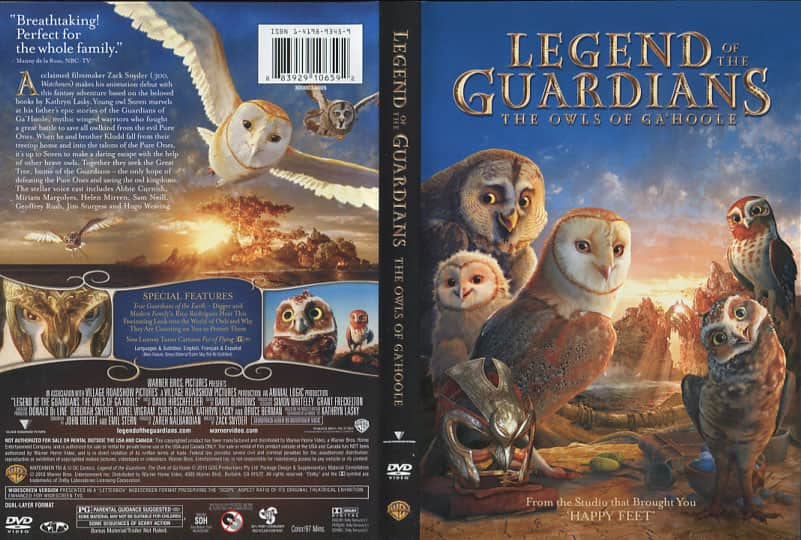 Legend of the Guardians: The Owls of Ga'Hoole - Zack Snyder cover