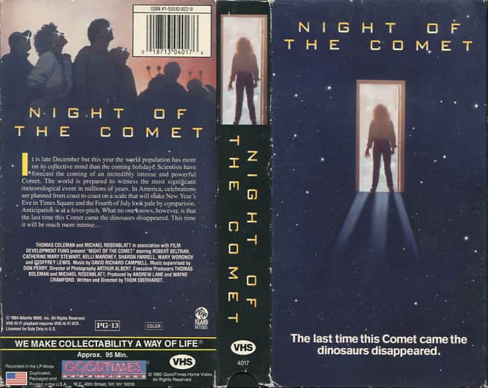 Night of the Comet - Thom Eberhardt cover