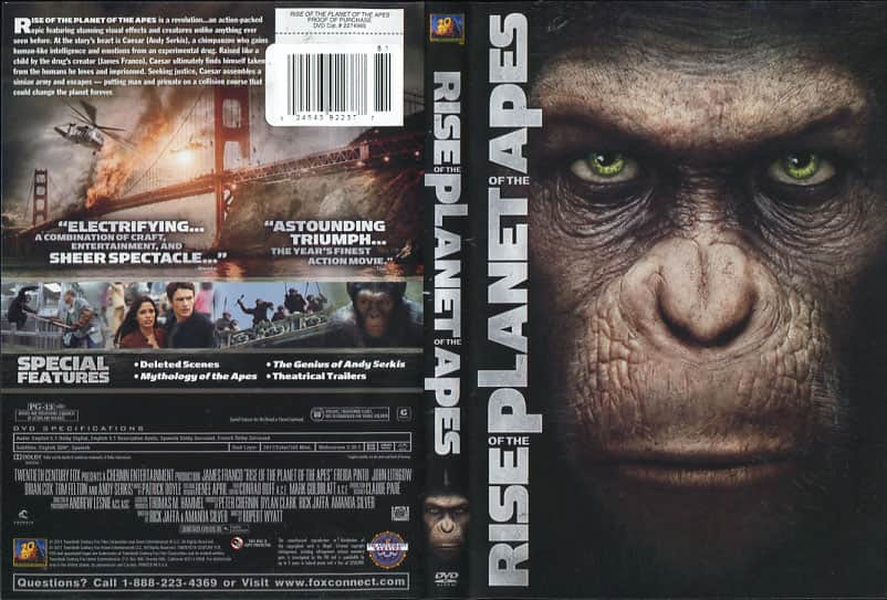 Rise of the Planet of the Apes - Rupert Wyatt cover