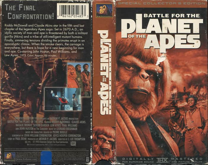 Battle for the Planet of the Apes  - J. Lee Thompson cover